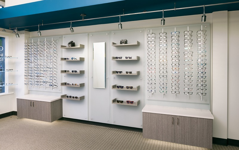 ennco optical space design, ennco design services, optical space remodel