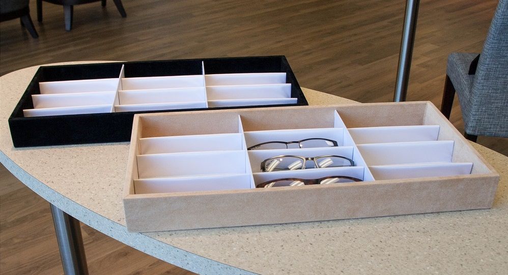 eyewear frame tray, eyewear display, optical tray